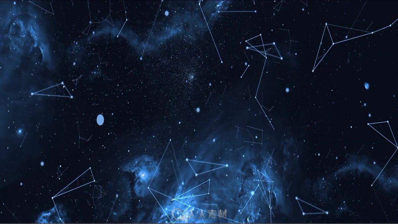 星空连线展示视频素材