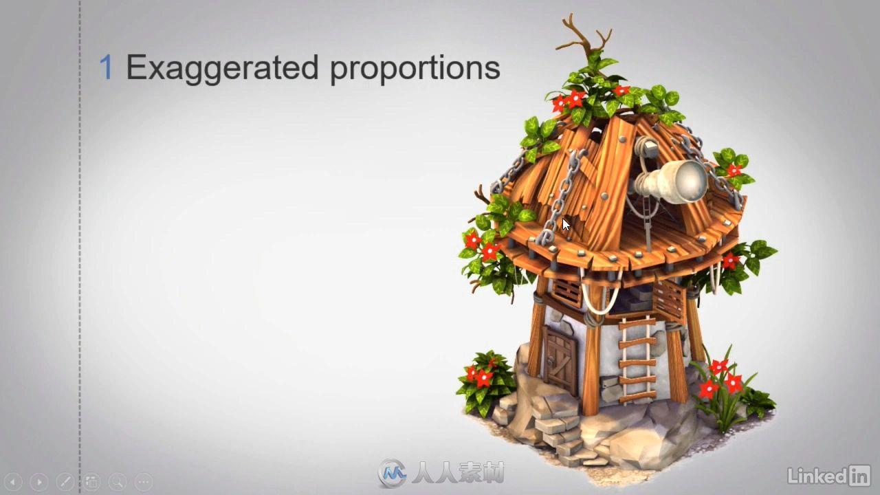 3dsMax环境游戏风格化场景教程房屋教程动画视频装修设计cad电影图片