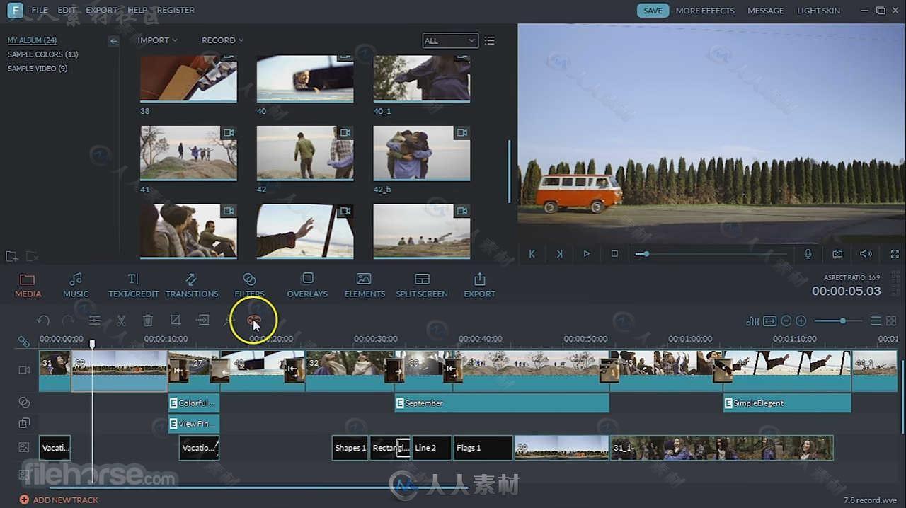 WondershareFilmora软件编辑视频特效工具包视频艺网站爱奇图片