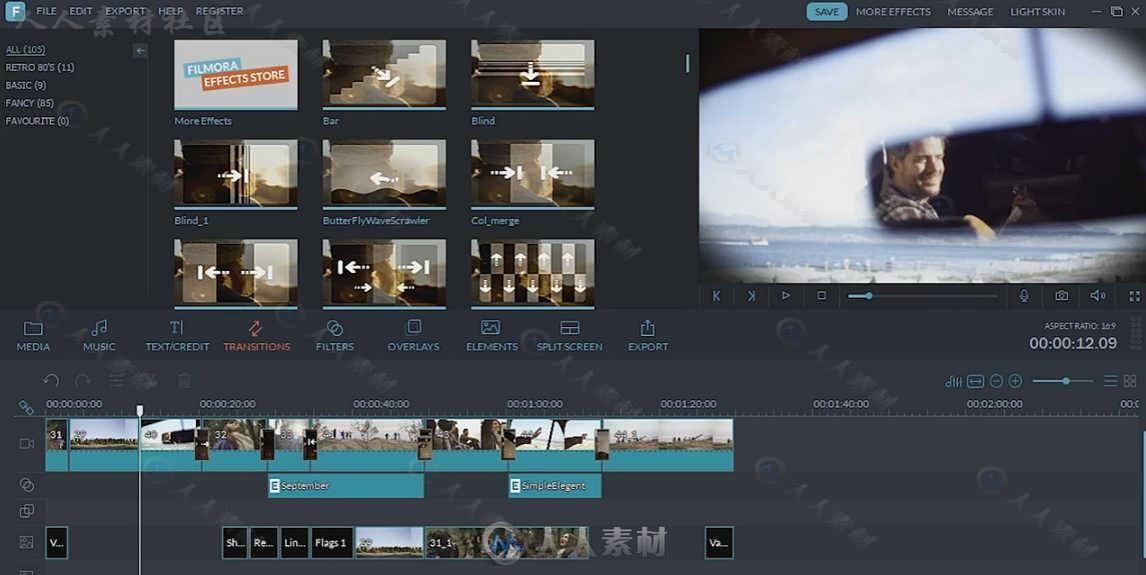 WondershareFilmora软件编辑视频特效工具包视频德高厄图片