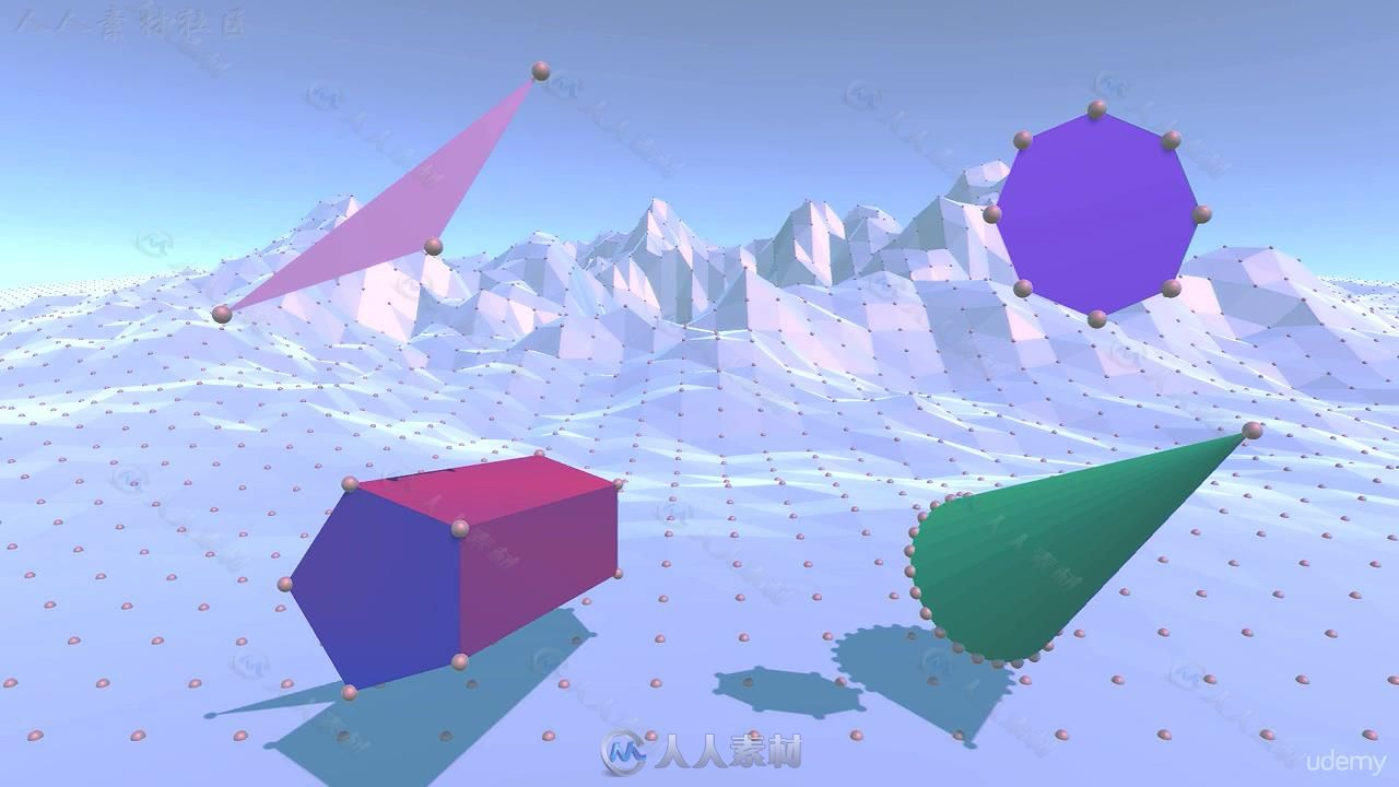 Unity制作训练实例教程地形教程编程魔方网格视频三角小视频几何图片