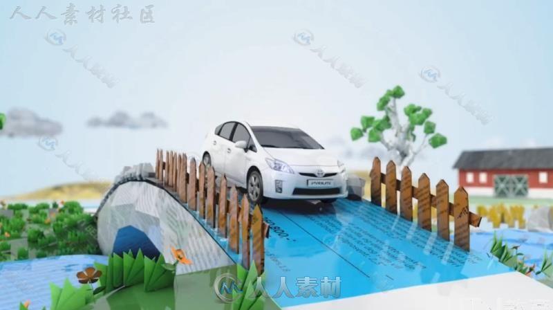 日本中文视频汽车广告C4D丰田案例教程-3D入门鼠教程绘图片