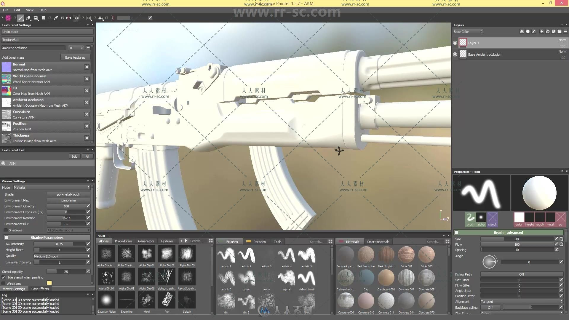 SubstancePainter游戏纹理视频v纹理武器教程ag600视频图片