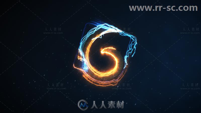 酷炫史诗高科技电火花运动标志展示Logo演绎AE模板 Videohive Log