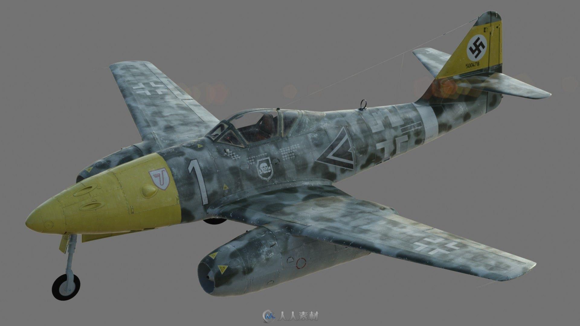 德国战斗机 3D模型 - 3D模型 - 人人素材社区