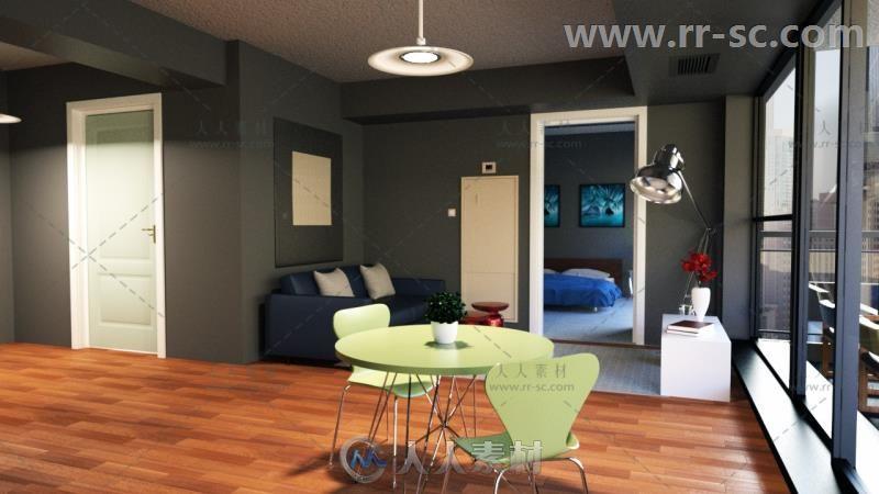 代简单的公寓房场景环境3D模型合辑