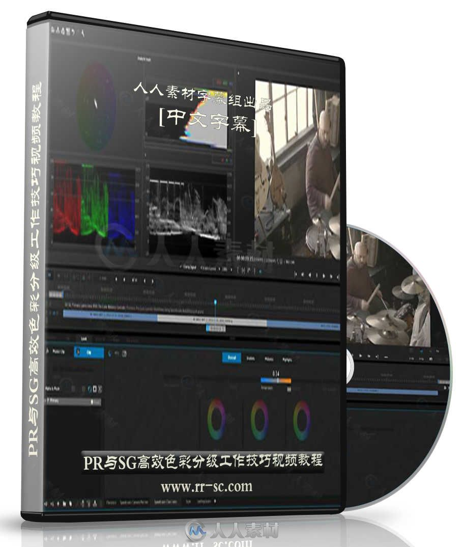 第140期中文字幕翻译教程《PR与SG高效色彩分级工作技巧视频教程》 人人素材字幕组
