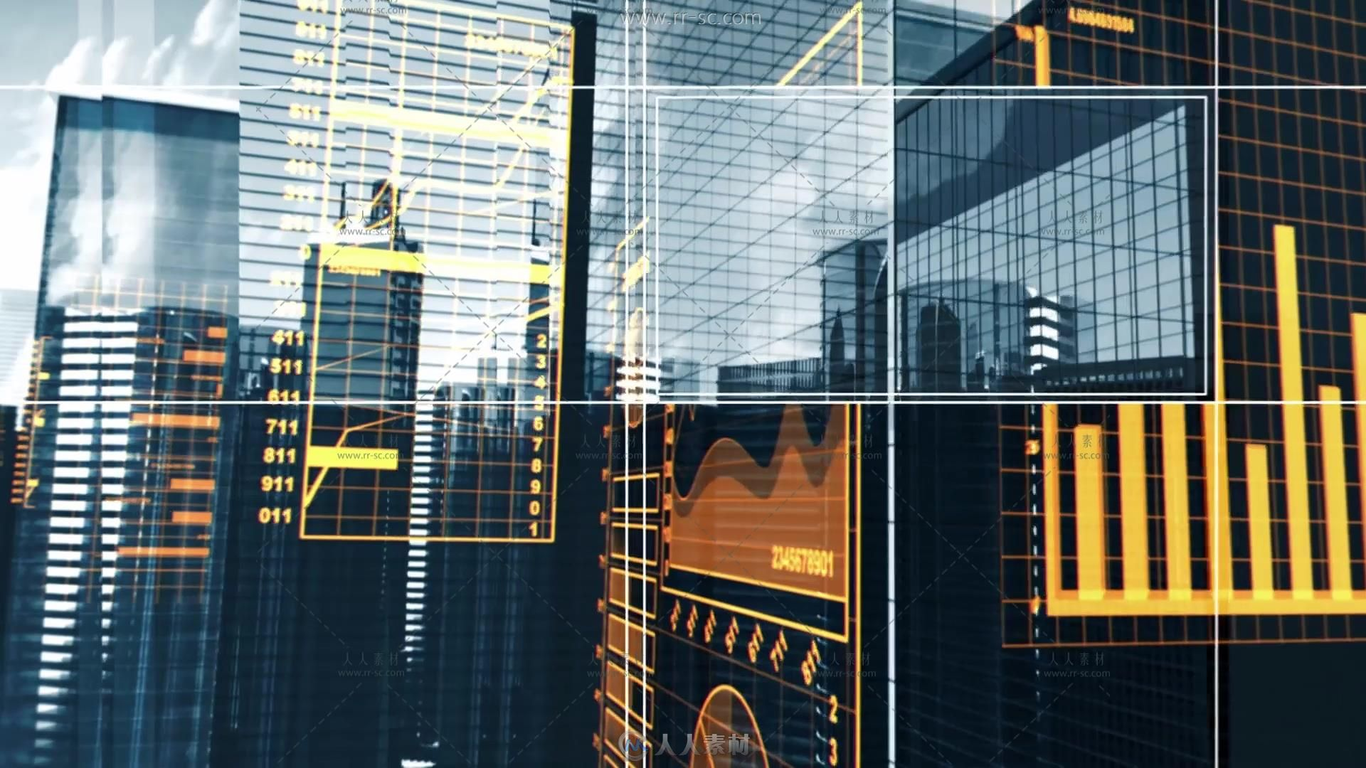 城市建筑数据分析房地产广告高清实拍视频素材