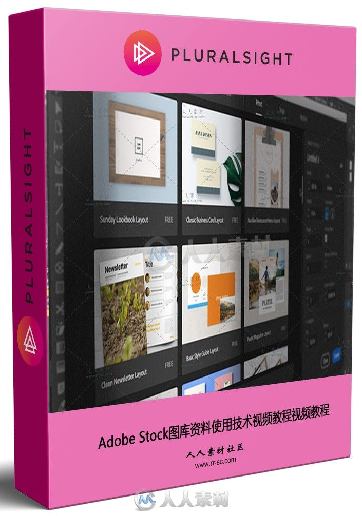 Adobe Stock图库资料使用技术视频教程