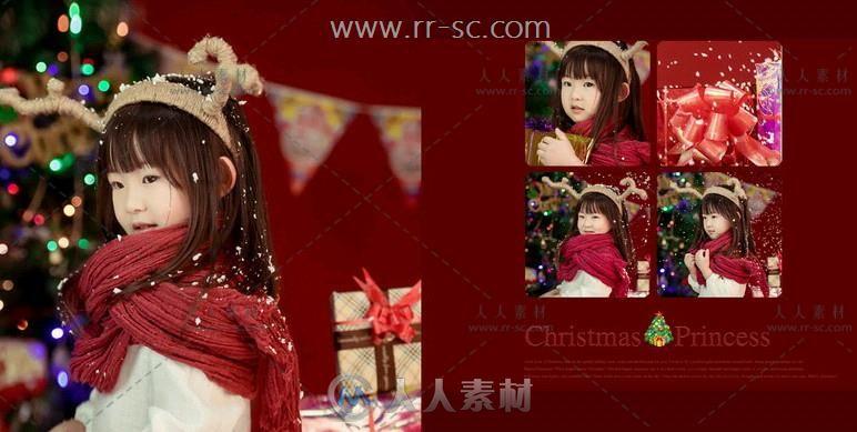圣诞小公主儿童写真相册PSD模板