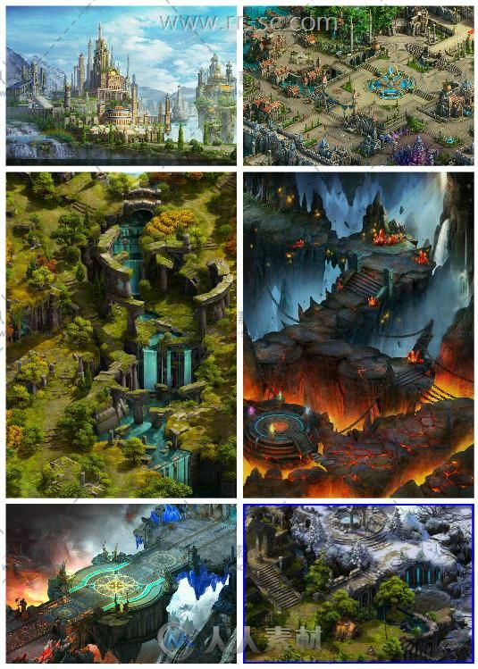 欧式写实游戏美术场景原画素材