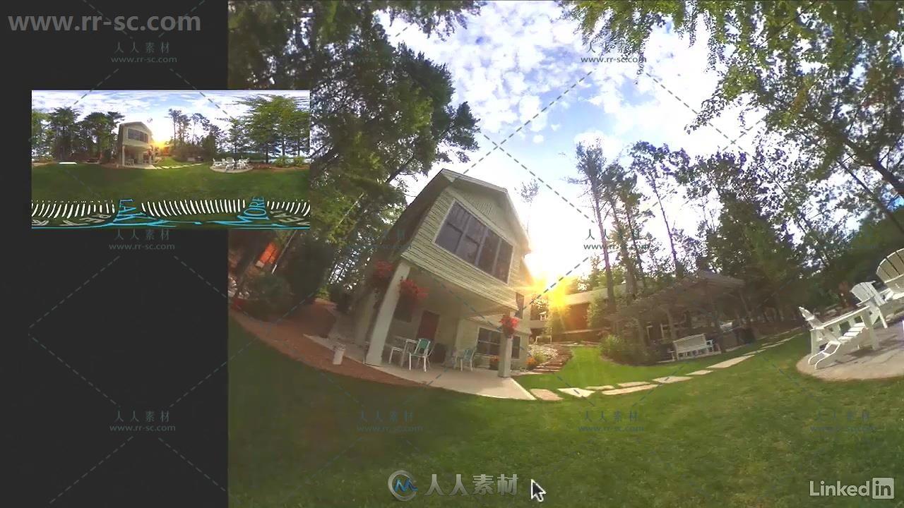 AE与PS全景球面360照片实例制作视频教程 影视后期 人人素材社区