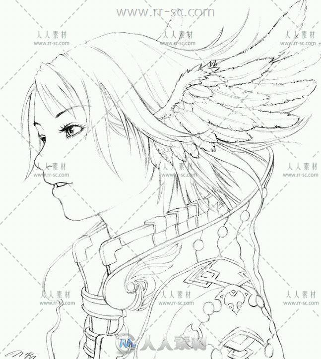 动漫游戏人物美术线稿插画素材资源