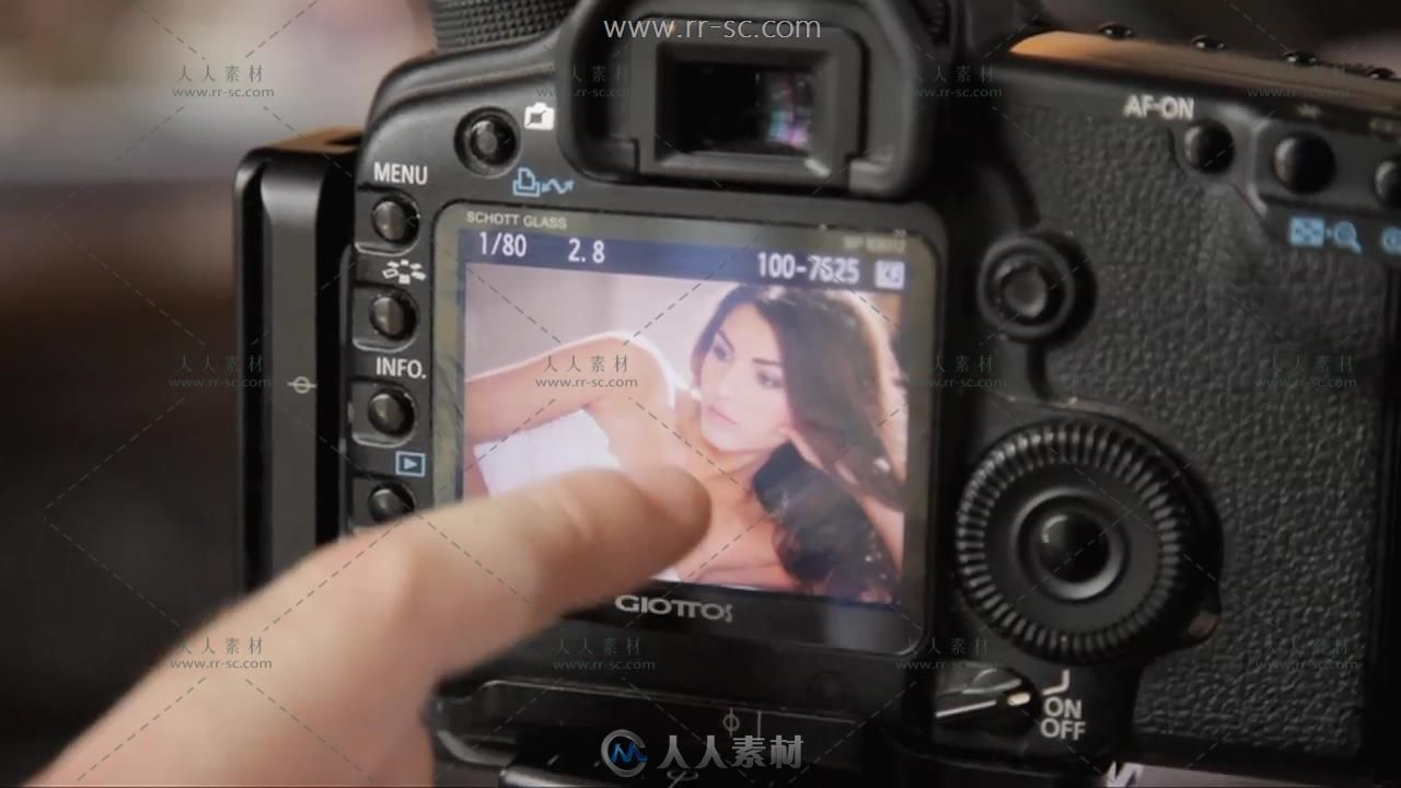 欧美时尚人像写真布光摄影高清视频教程