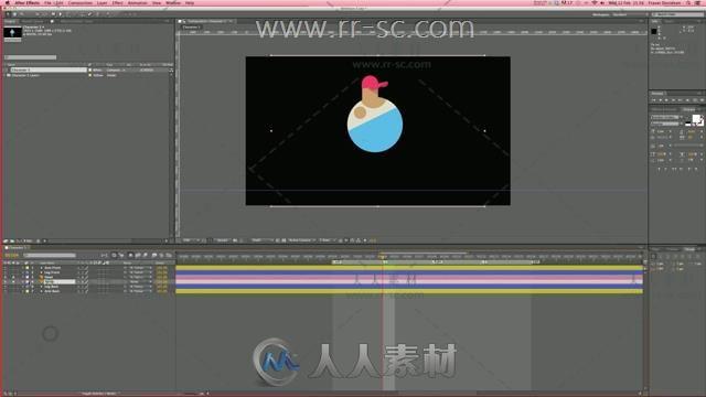 制作二维角色动画AE视频教程