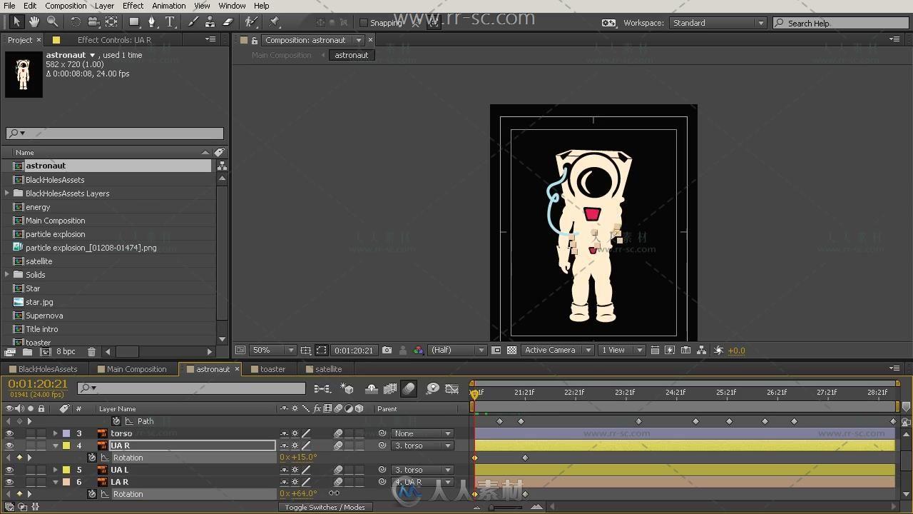 AE高级运动图形卡通动画视频教程