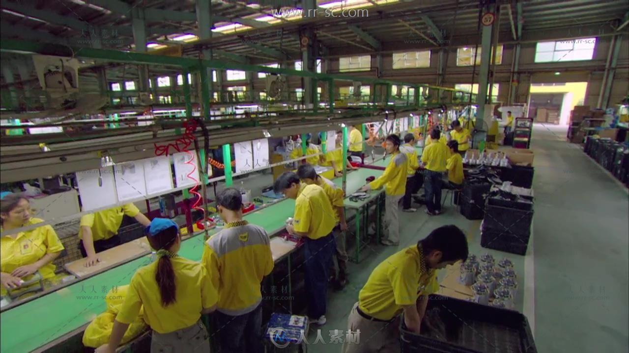 家用电器工厂生产车间宣传片实拍视频素材