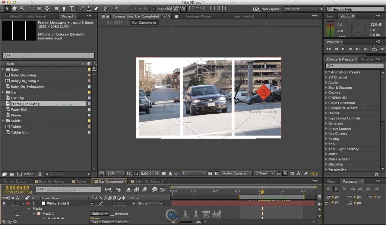 给视频添加很有趣的3D画面效果AE视频教程