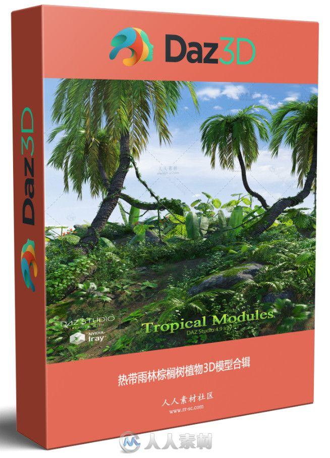 热带雨林棕榈树植物3D模型合辑