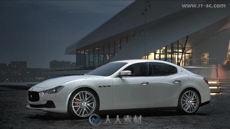 完美展现玛莎拉蒂汽车宣传高清实拍视频素材