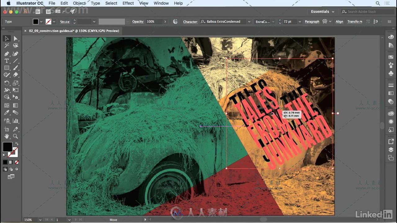 Illustrator网格布局设计技巧视频教程