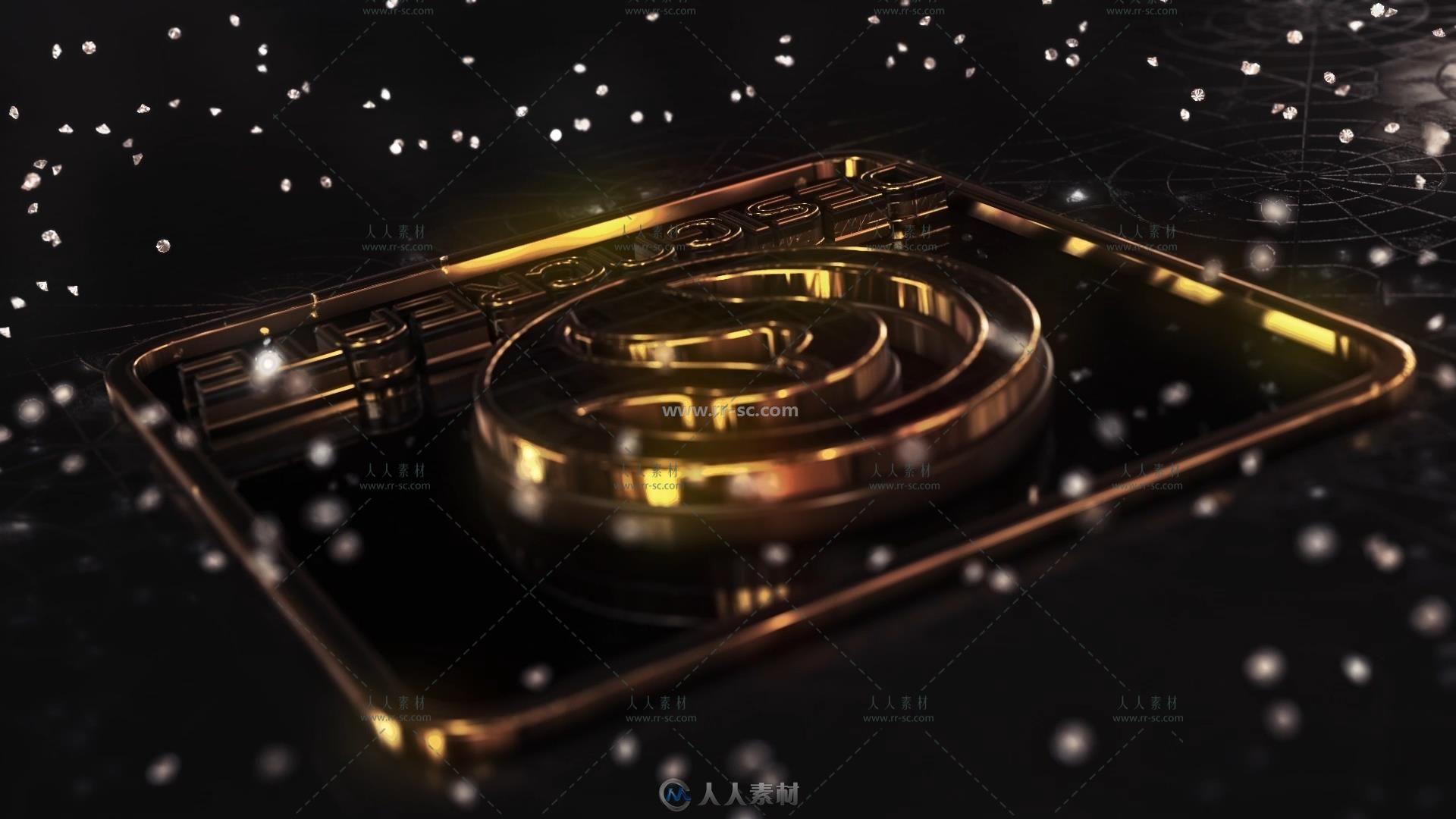 巨幅黄金钻石Logo演绎动画AE模版