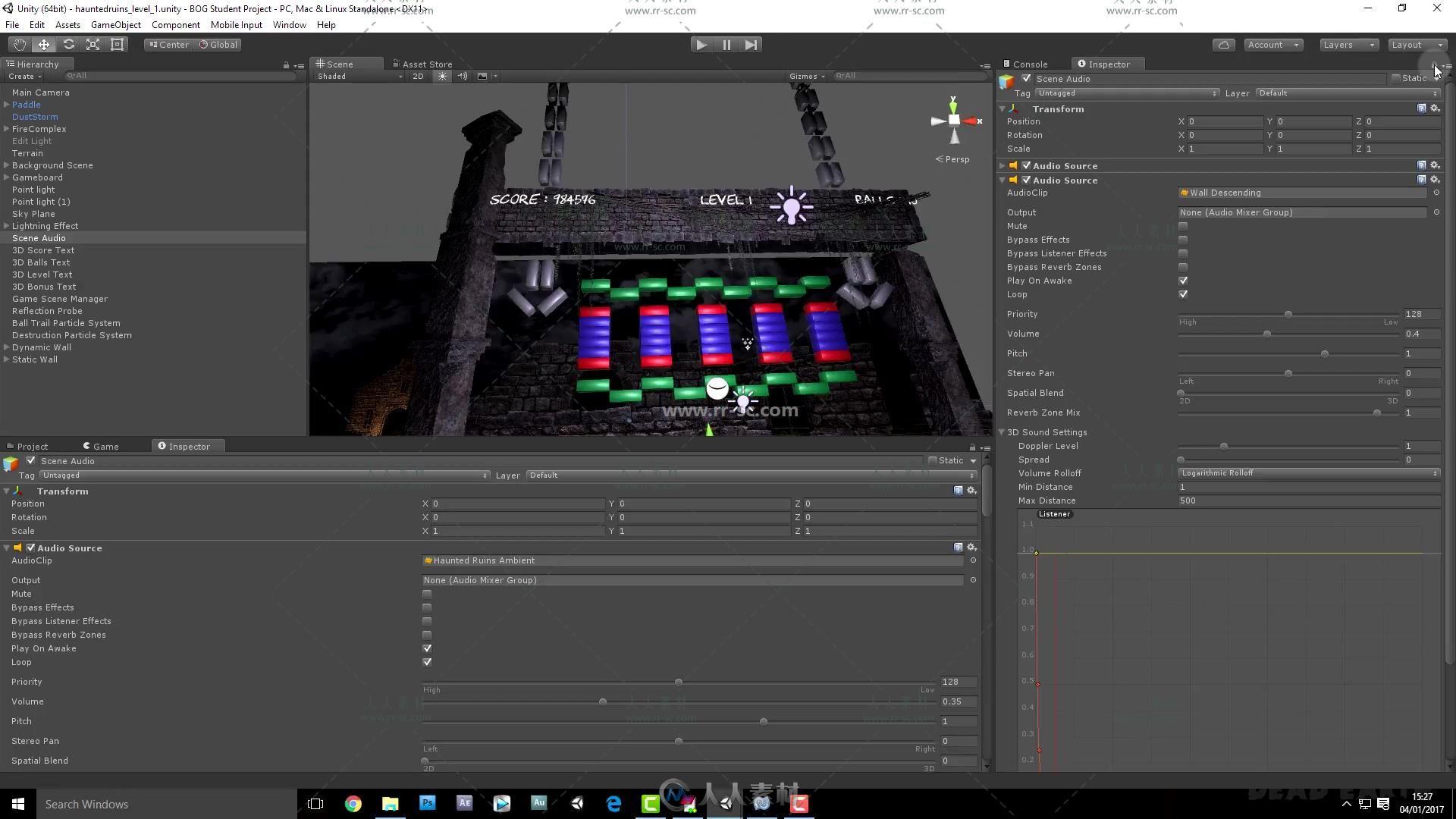 Unity 5商业游戏项目实例制作视频教程第二季
