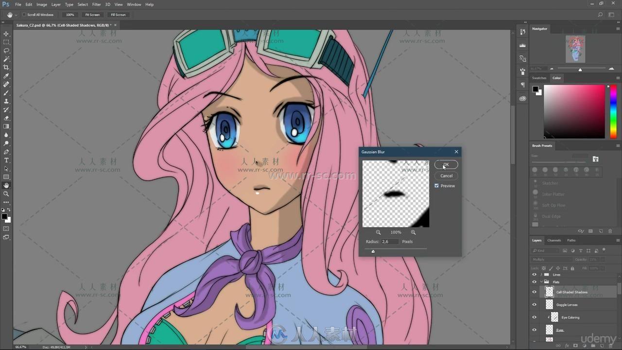 人物角色数字绘画色彩着色技术大师级训练视频教程