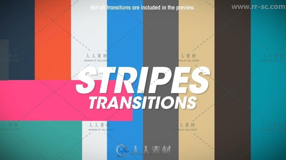 199组彩色图形转场动画AE模版合集