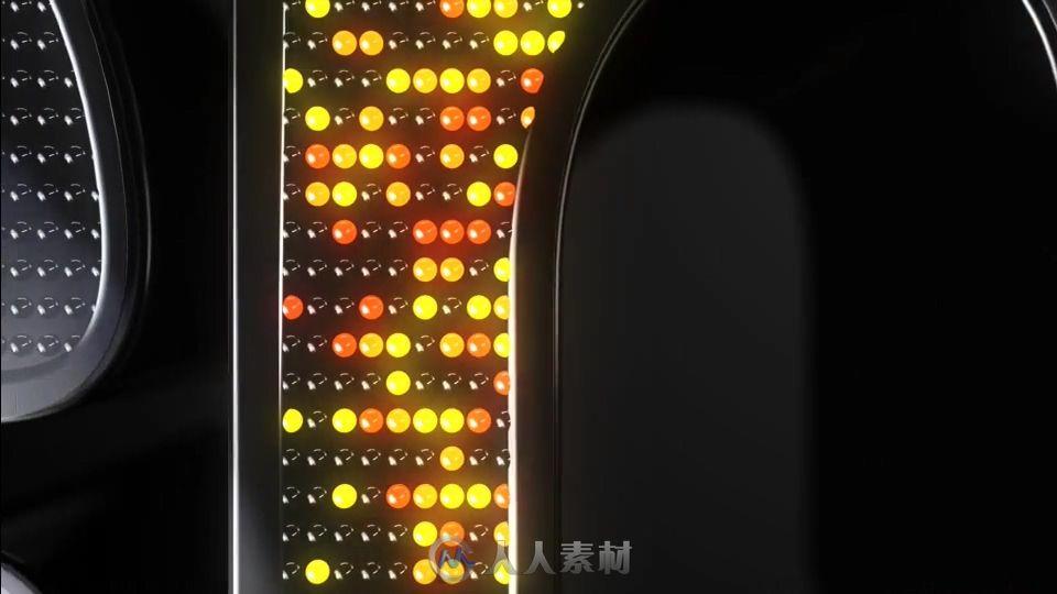 霓虹灯像素LED点亮Logo演绎动画AE模版