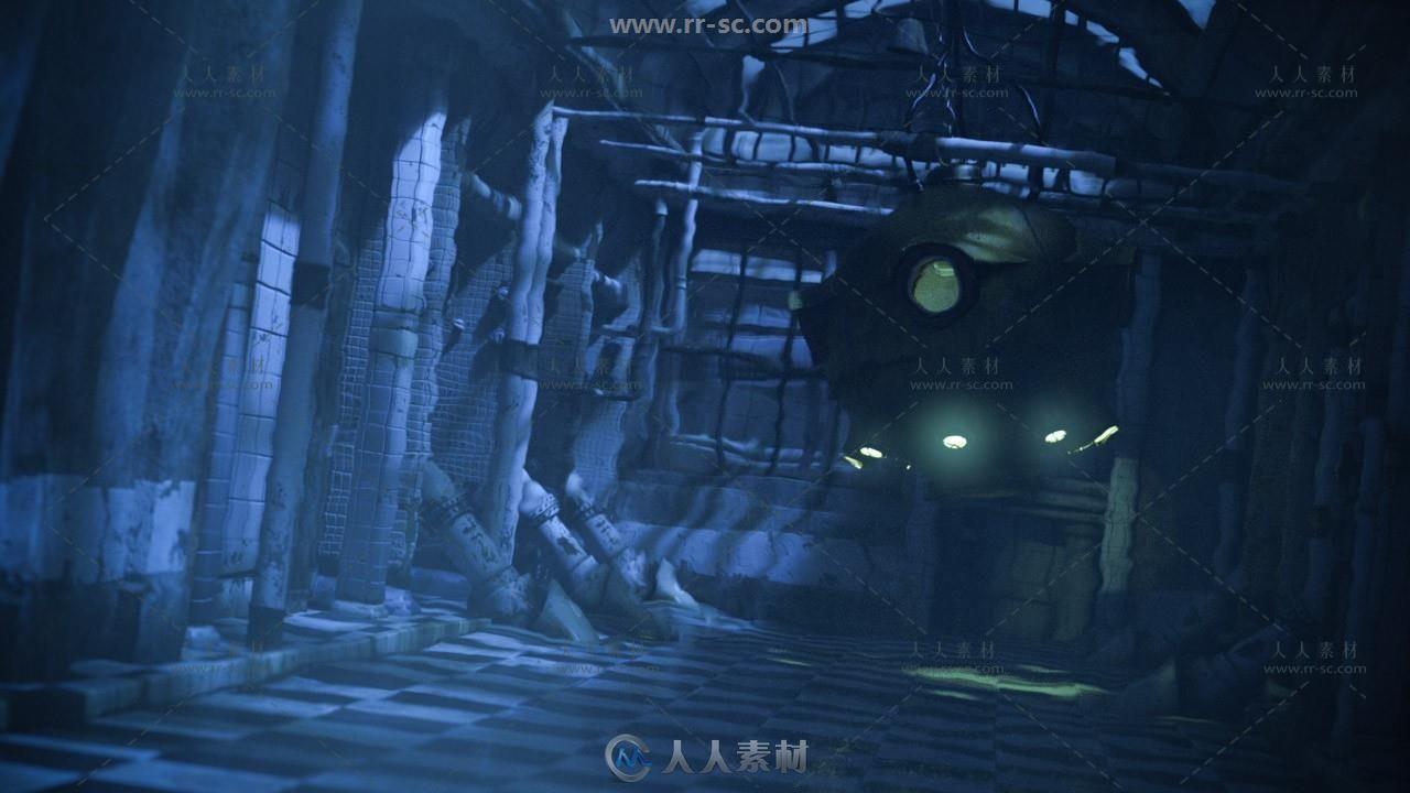 超梦幻水下与炎热渲染场景3D模型