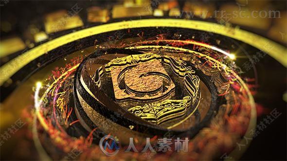 超炫质感材质强烈冲击力Logo演绎动画AE模版