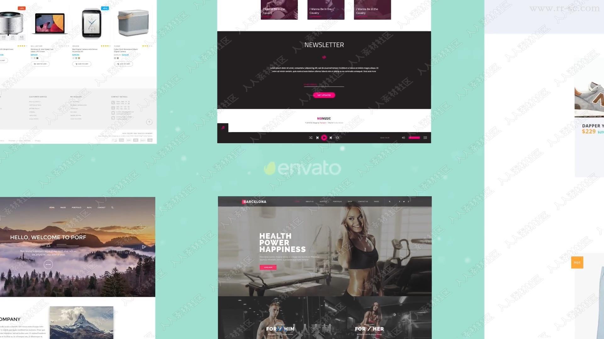 网站网页推广演示宣传动画AE模版