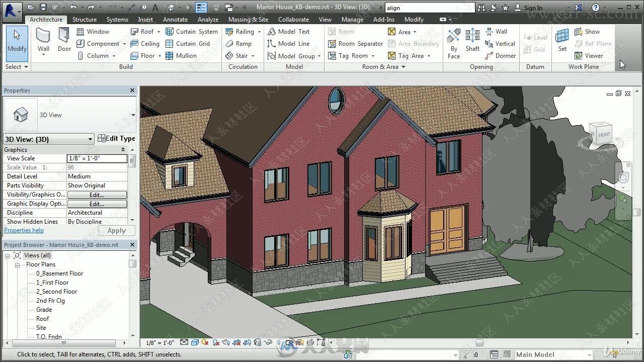 Revit建筑设计综合训练视频教程