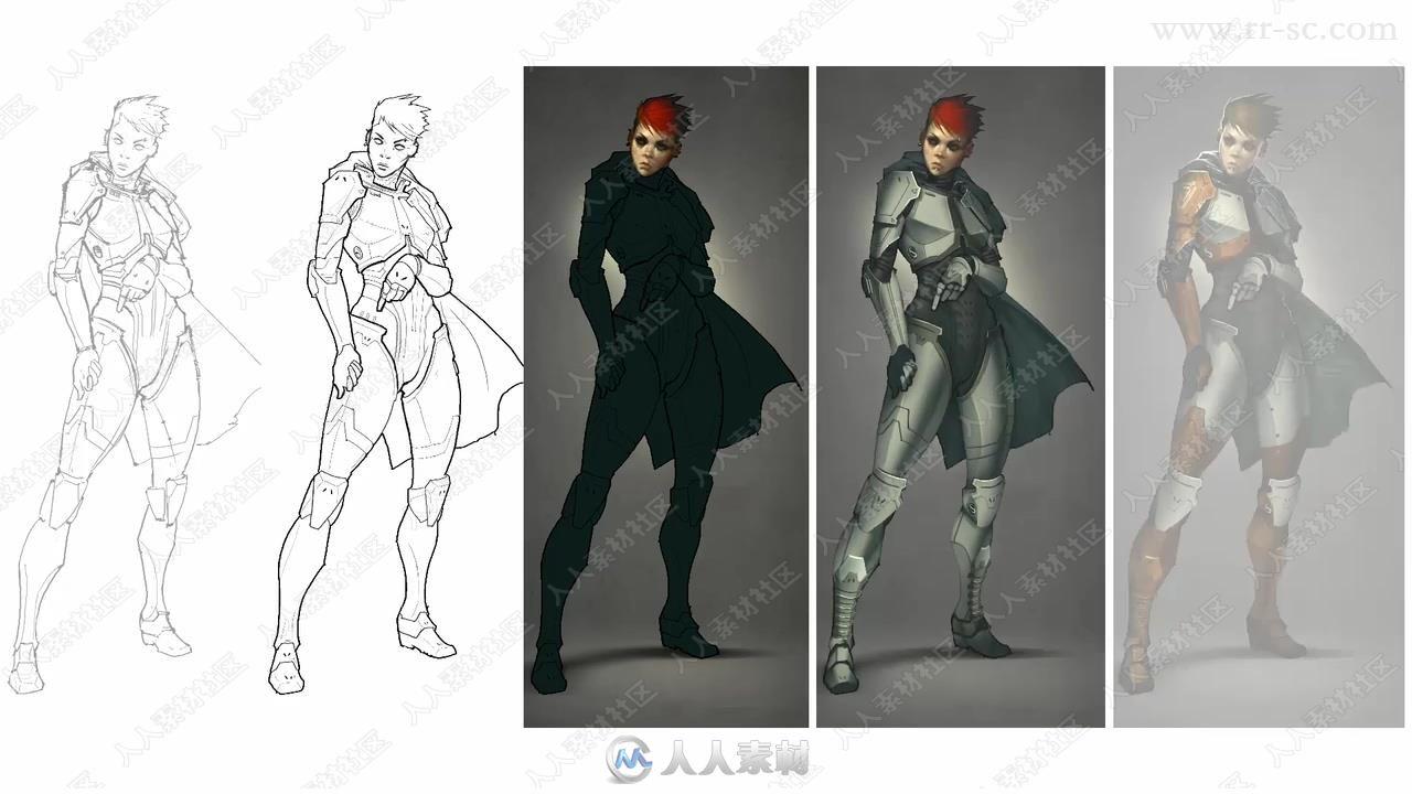 专业级影视游戏角色设计数字绘画训练视频教程