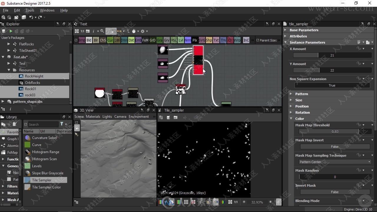 Substance游戏环境场景纹理制作流程实例制作视频教程
