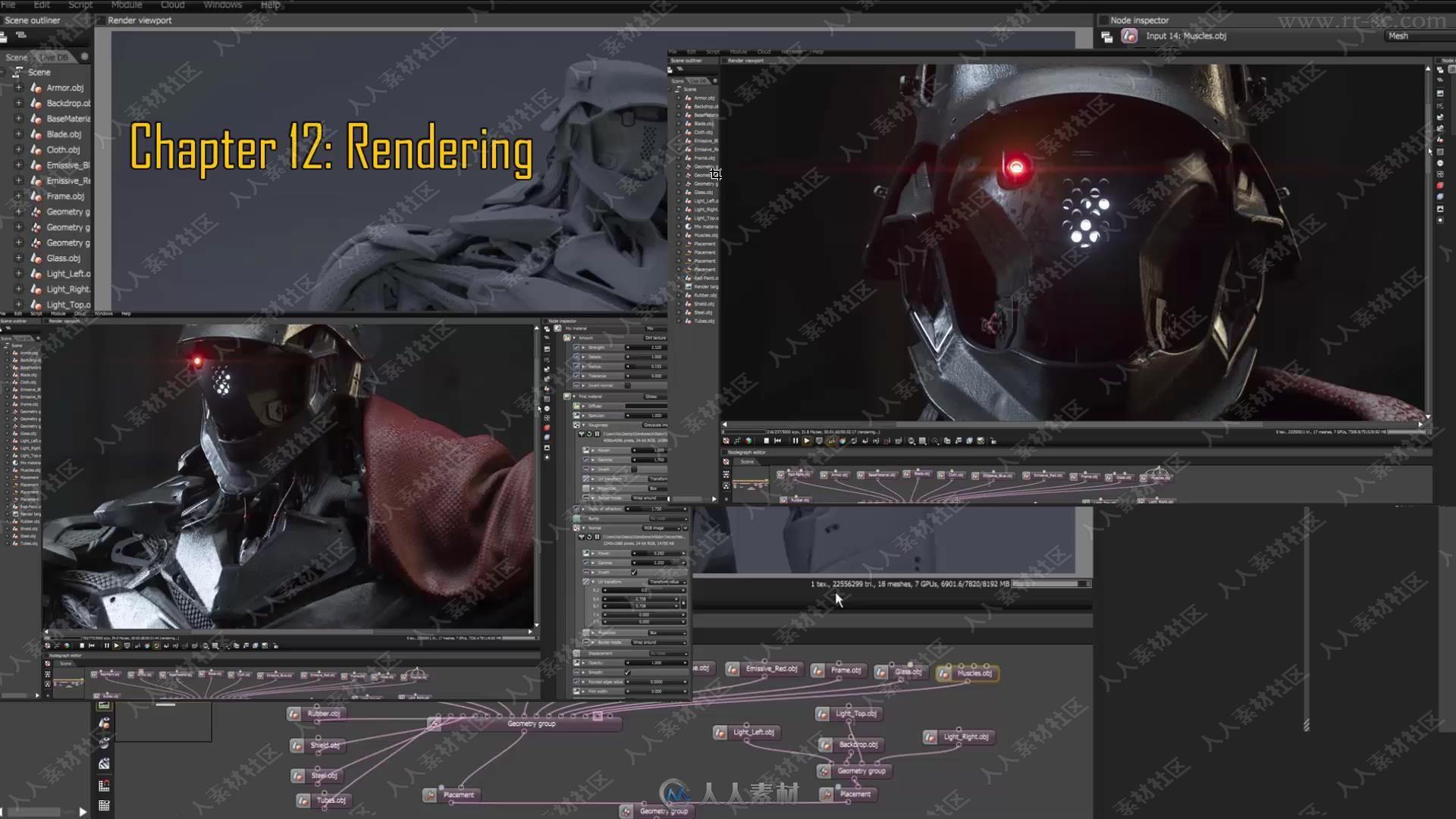影视游戏中机器人工资3Dv工资大师班视频教程对室内设计角色低图片