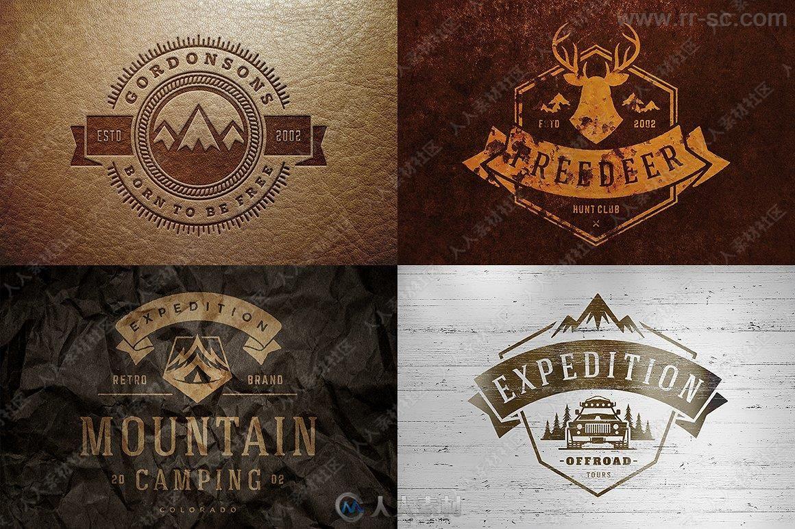 1000组各种主题Logo标识标志模板大全