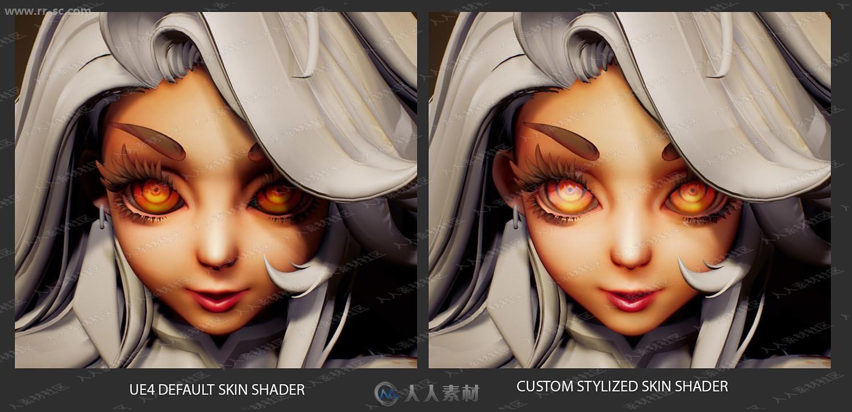 程式化PBR字符角色头发眼睛金属材料UE4游戏素材资源