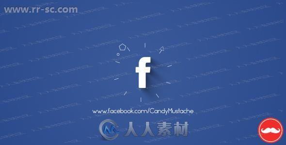 简洁不同背景社交软件小图标logo动画演绎AE模板