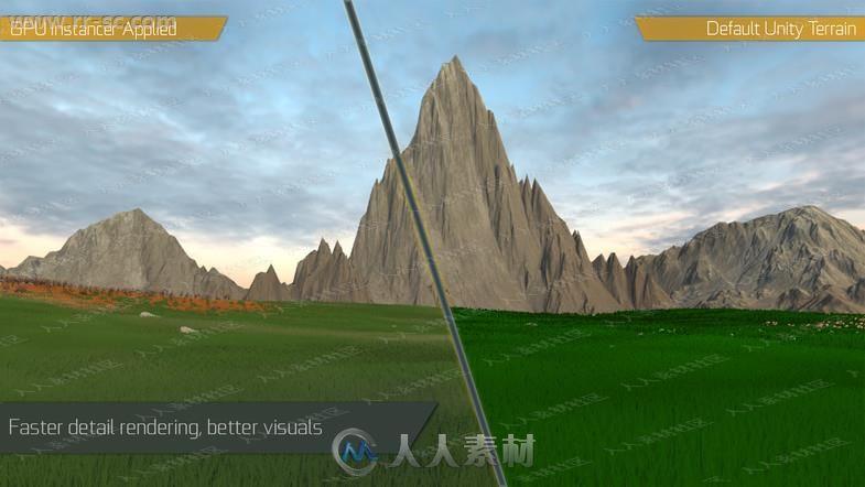 GPU渲染着色地形草木岩石工具Unity游戏素材资源