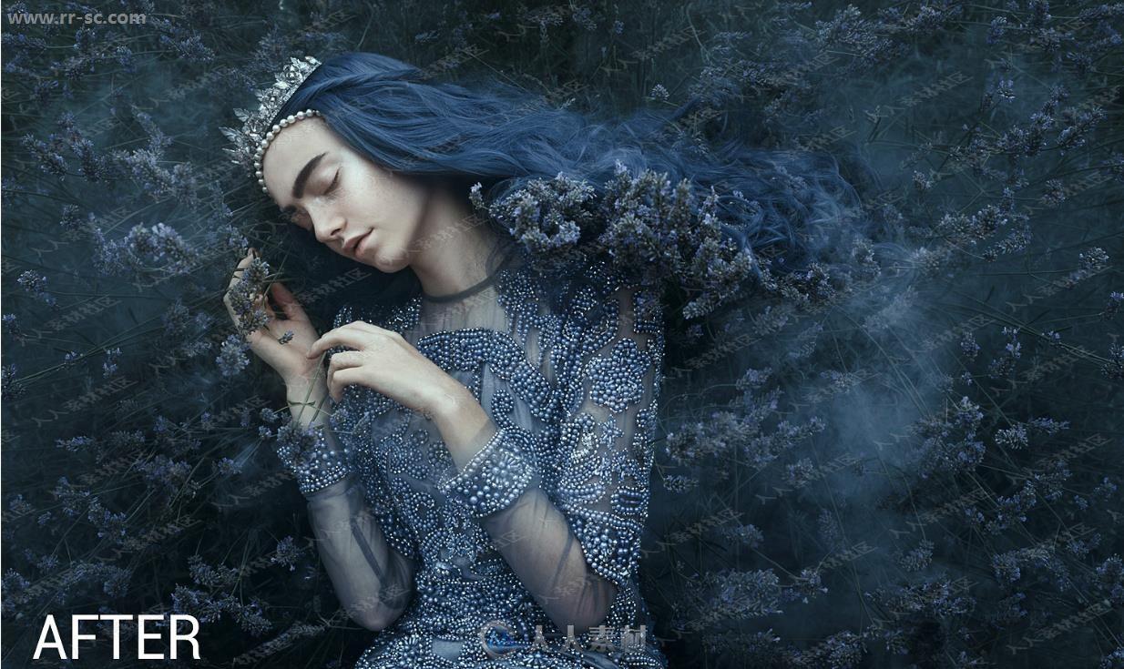 迷人童话魔法暗色凸显人像特效特效PS动作