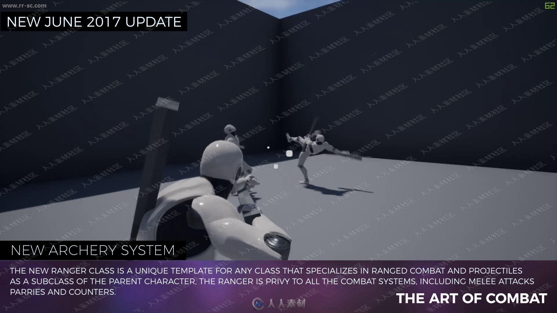 双人战斗生存游戏系统整体蓝图UE4游戏素材资源