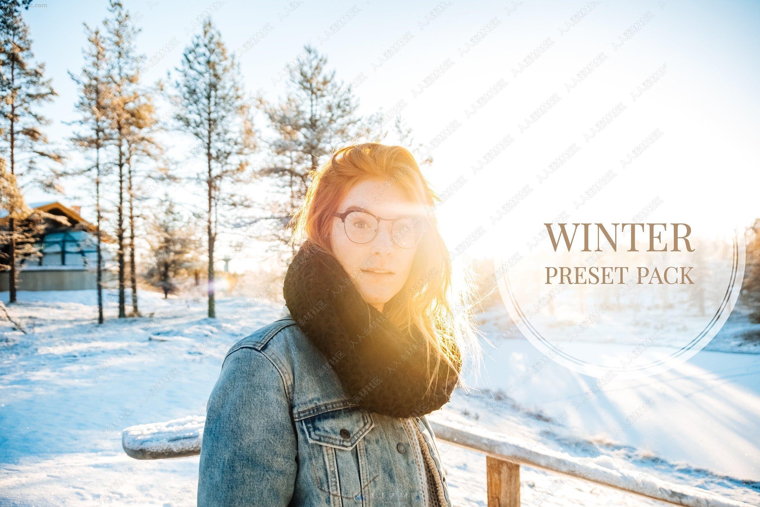6组冬季雪景清新明亮艺术色调Lightroom模板
