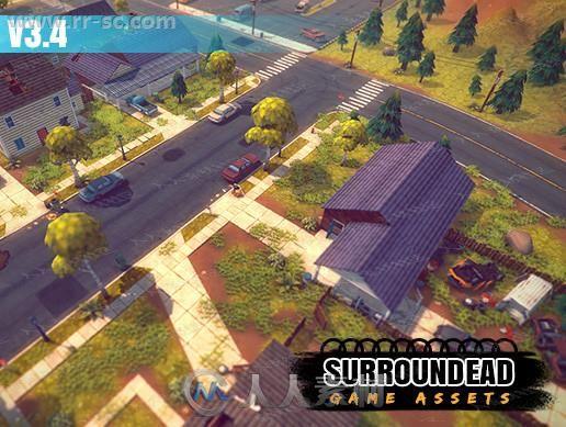 超多组生存游戏建筑设施3D模型Unity游戏素材资源