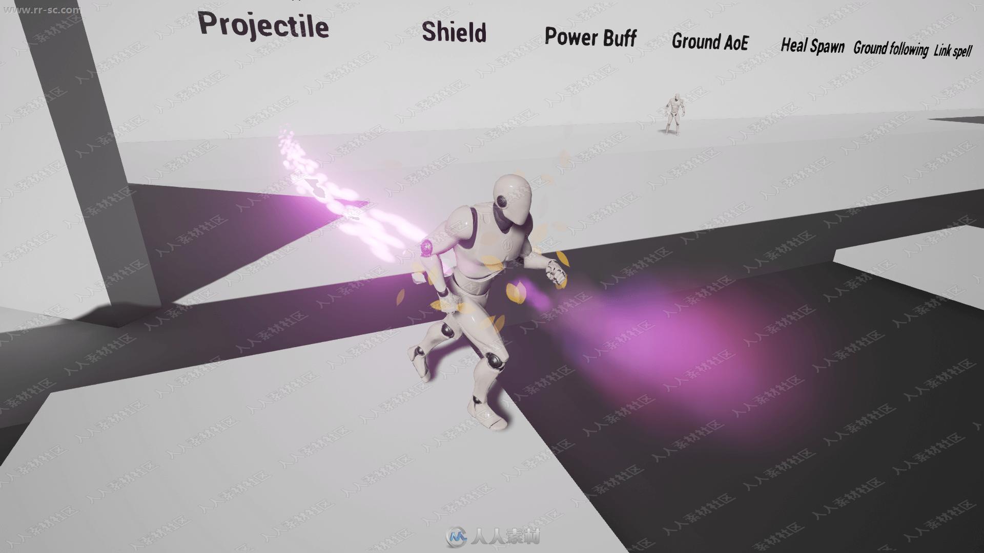 游戏法术高伤害粒子效果蓝图UE4游戏素材资源