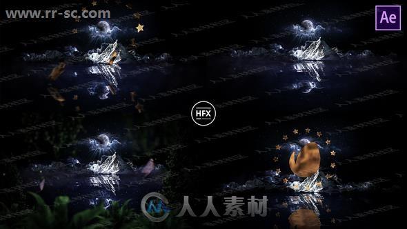 童话电影开场神秘星球环境logo动画演绎AE模板