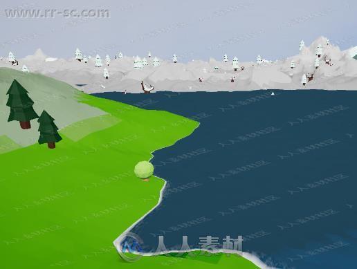 梯田创建种子铺放生物群落3D模型Unity游戏素材资源