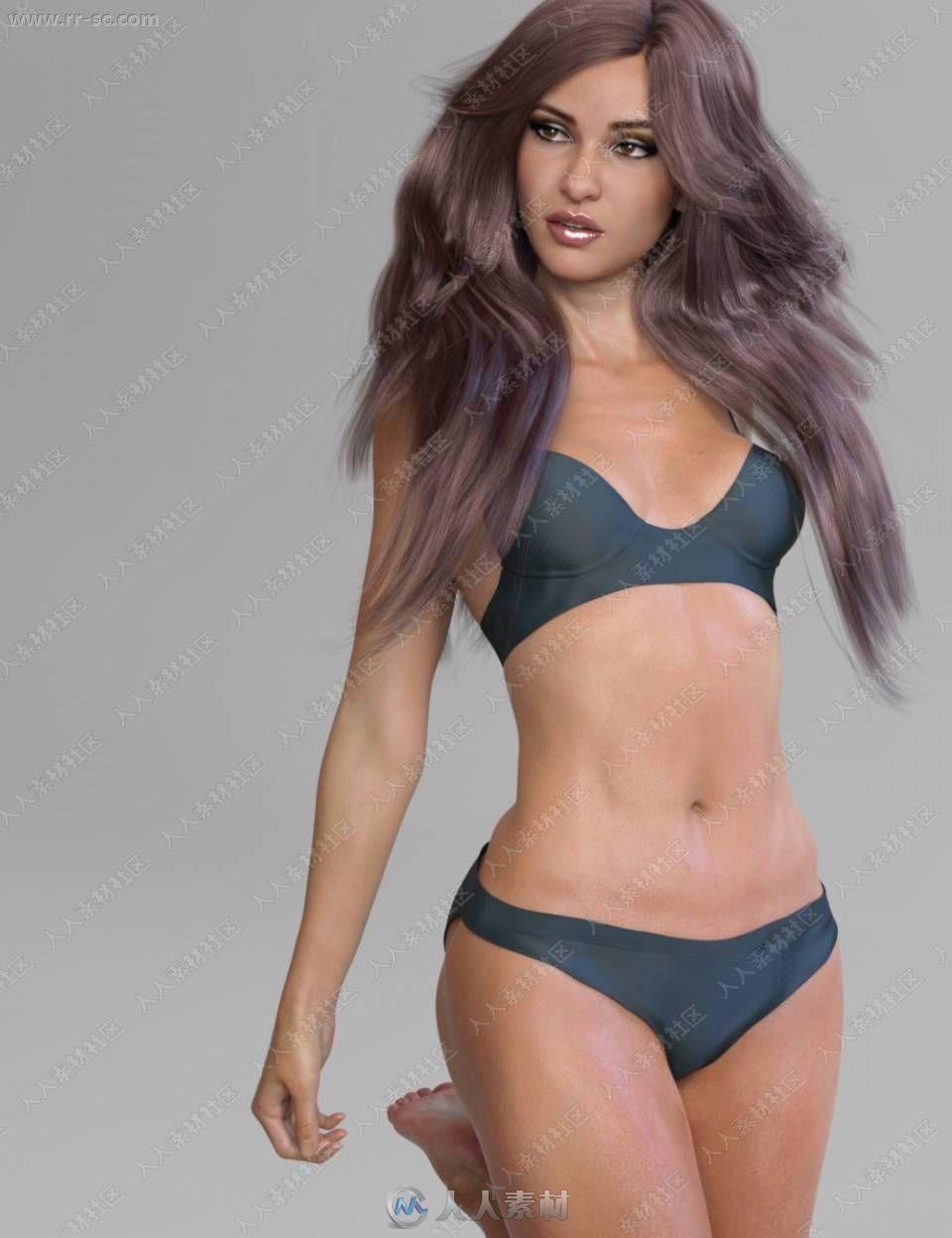 致高挑漂亮女孩姿势妆容3D模型