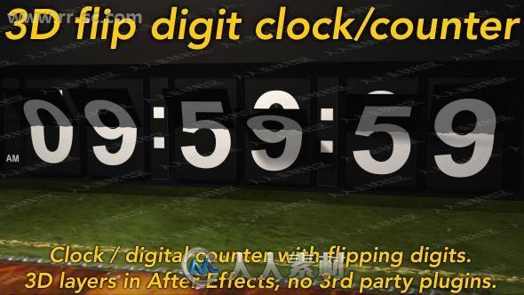 赛事计数翻转动画时钟创意设计AE模板